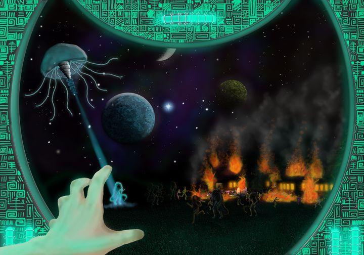 Aliens attack - Bethany Gray Cumbria