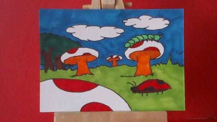 A Field of Mushrooms - Isaac Gilbertson