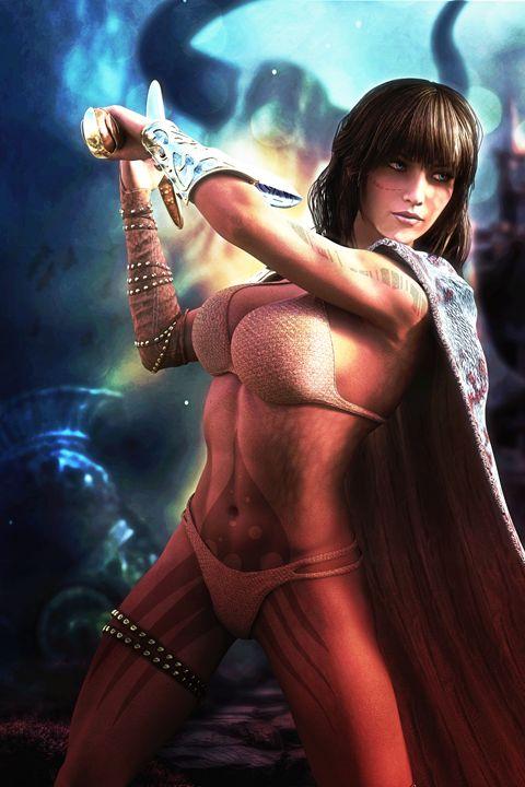 Fantasy Warrior Queen - Alan Thompson Art