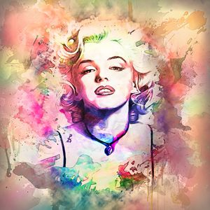 Marilyn Monroe Modern Art Painting