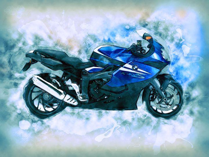 BMW Motorcycle - Alan Thompson Art
