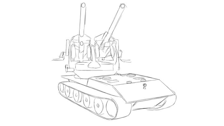 E-100 Flak 40x2 - KuraiTanuki
