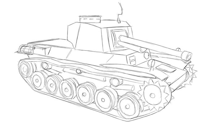 三式中戦車 チヌ Type 3 Tank Chi-Nu - KuraiTanuki