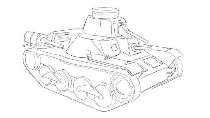 九五式軽戦車 Type 95 Ha-Go 落描き - KuraiTanuki