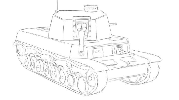 五式中戦車 チリType 5 Chi-Ri - KuraiTanuki