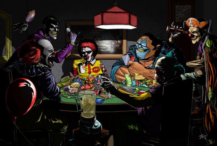 Clowns Playing Poker - Steven J. Ho