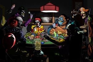 Clowns Playing Poker