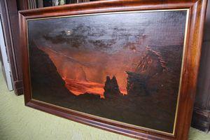"""Volcano At Night"""
