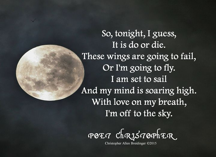 Set to Sail - Poet Christopher