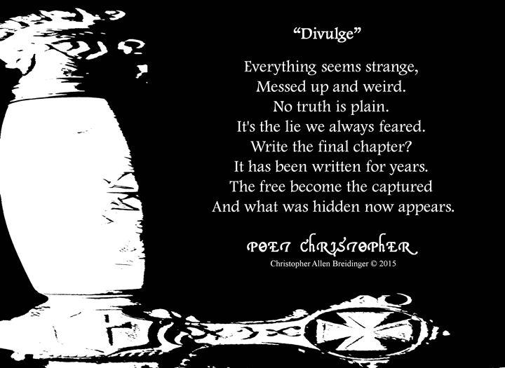 Divulge - Poet Christopher