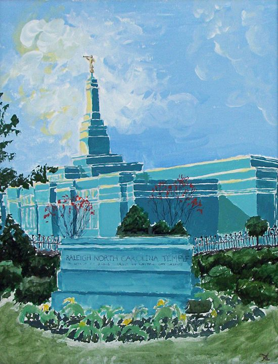 Raleigh North Carolina LDS Temple - Bekablo Creations