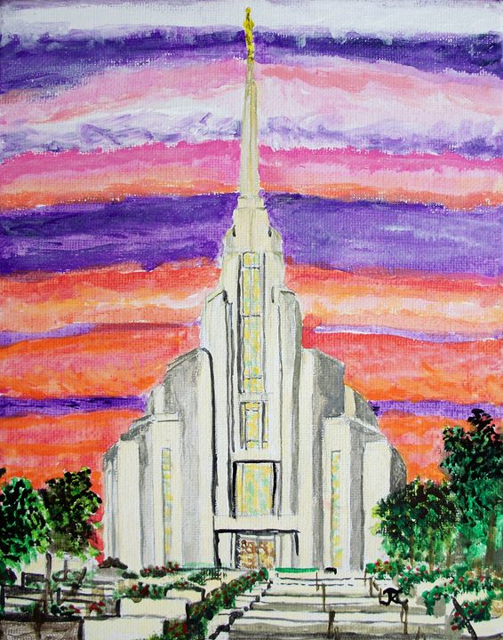 Rome Italy LDS Temple - Bekablo Creations