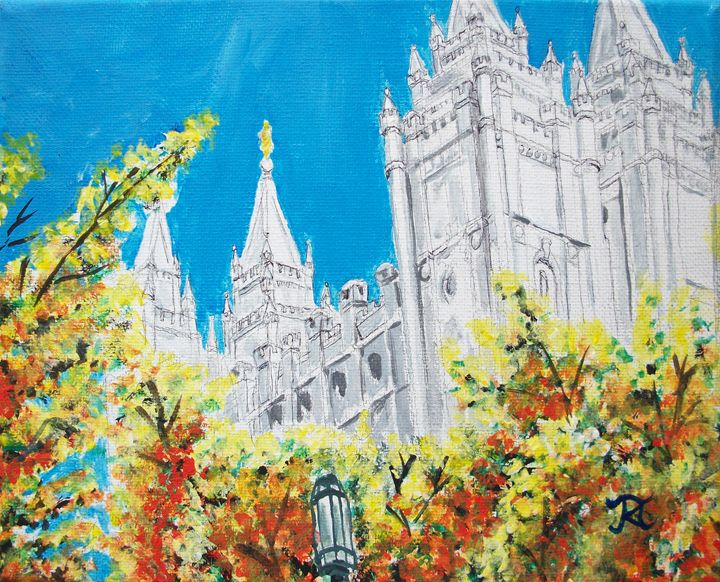 Salt Lake City Utah LDS Temple - Bekablo Creations