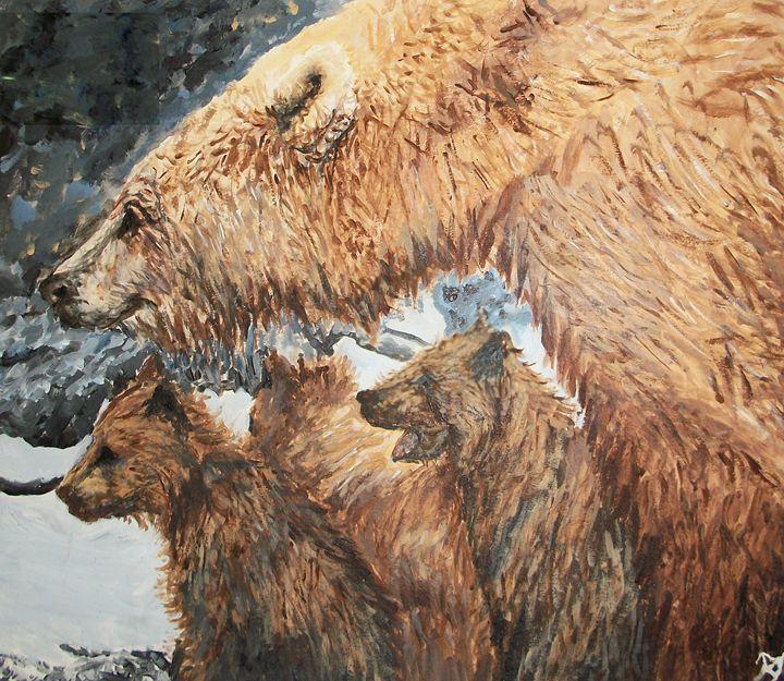 Polar Bears Cuddle - Bekablo Creations
