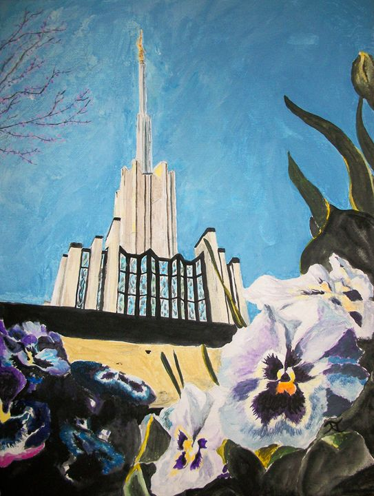 Atlanta Georgia LDS Temple Pansies - Bekablo Creations