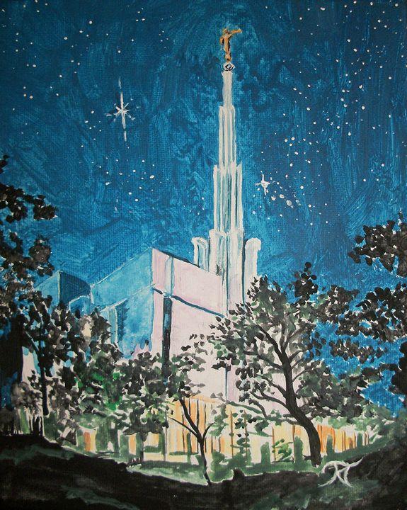 Tokyo Japan LDS Temple Night 2 - Bekablo Creations