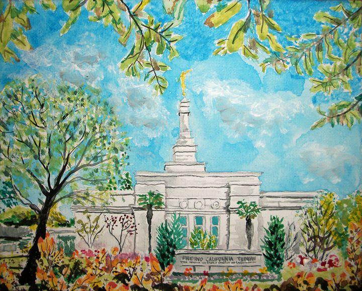 Fresno CA LDS Temple Daylight - Bekablo Creations