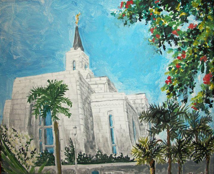 San Salvador El Salvador LDS Temple - Bekablo Creations