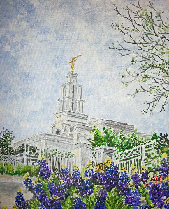 San Antonio Texas LDS Temple - Bekablo Creations