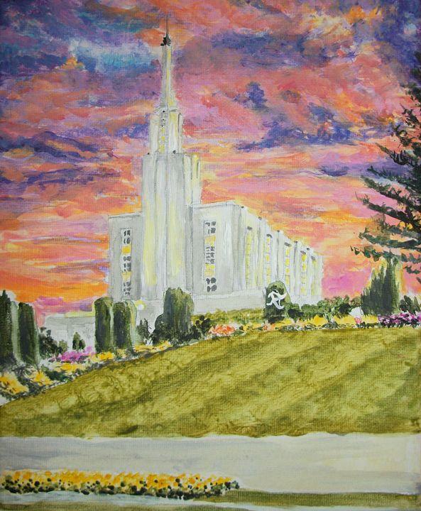 Hamilton New Zealand LDS Temple - Bekablo Creations