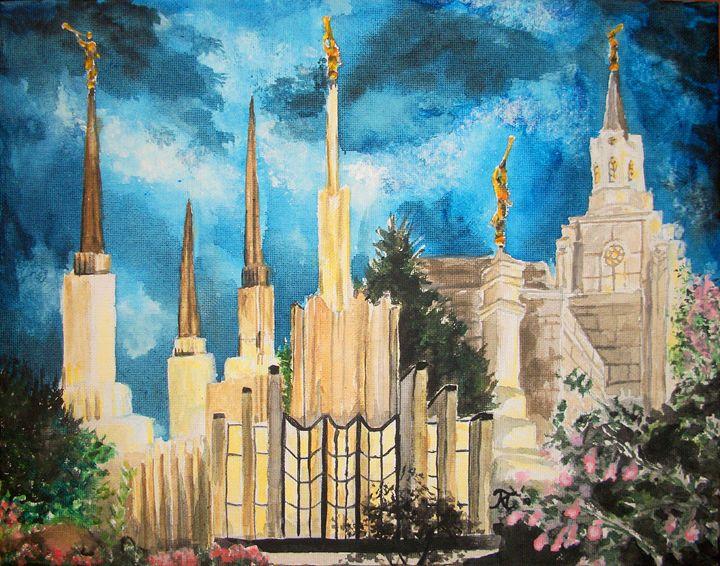 Zion's LDS Temples Painting - Bekablo Creations