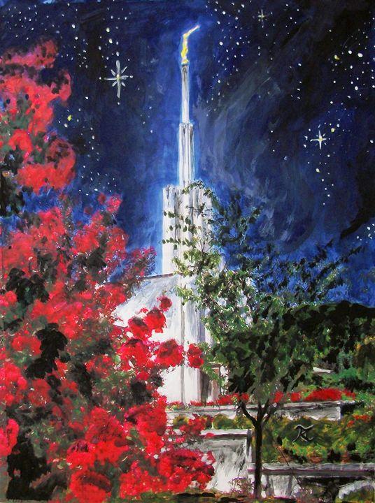Atlanta Georgia LDS Temple Night II - Bekablo Creations