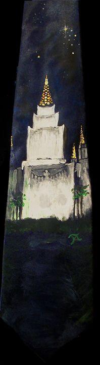 Oakland CA LDS Temple Tie 2 - Bekablo Creations