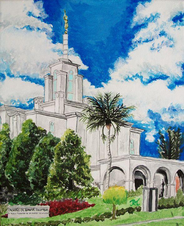Bogota Columbia LDS Temple - Bekablo Creations