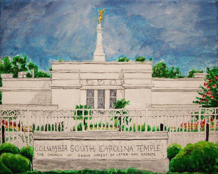 Columbia South Carolina LDS Temple - Bekablo Creations