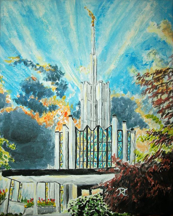 Atlanta Georgia LDS Temple Sunset - Bekablo Creations