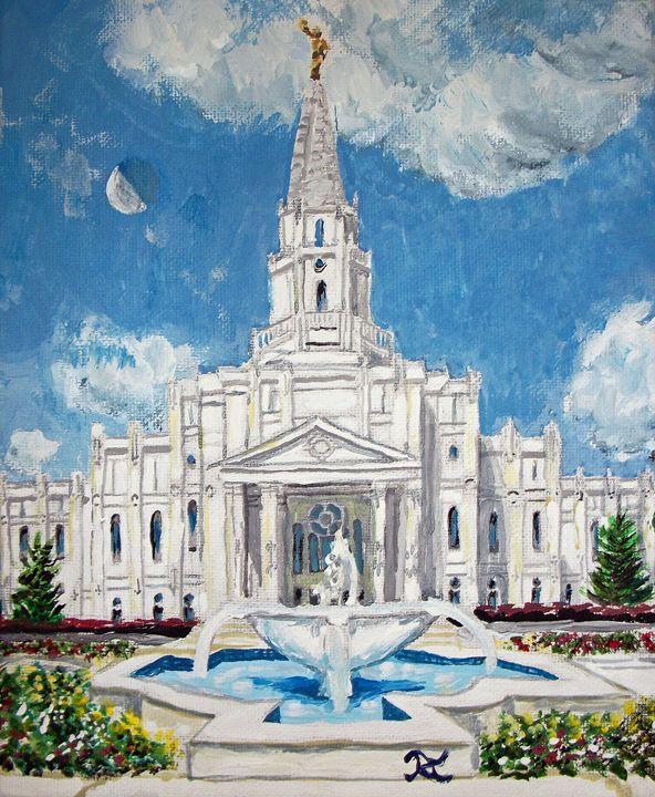 Houston Texas LDS Temple - Bekablo Creations