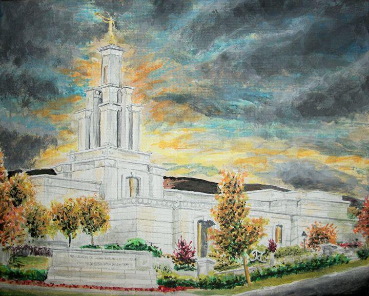 Columbia River Washington LDS Temple - Bekablo Creations