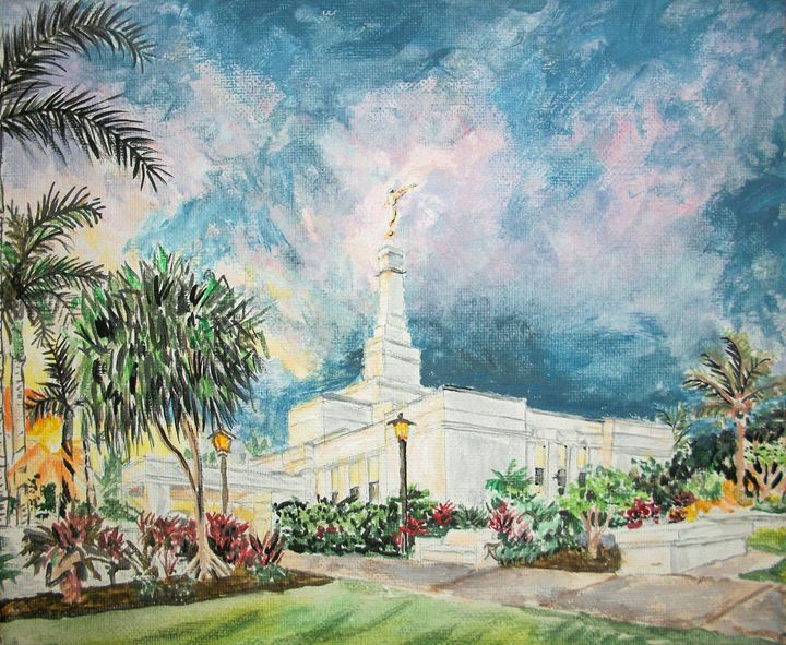 Kona Hawaii LDS Temple - Bekablo Creations