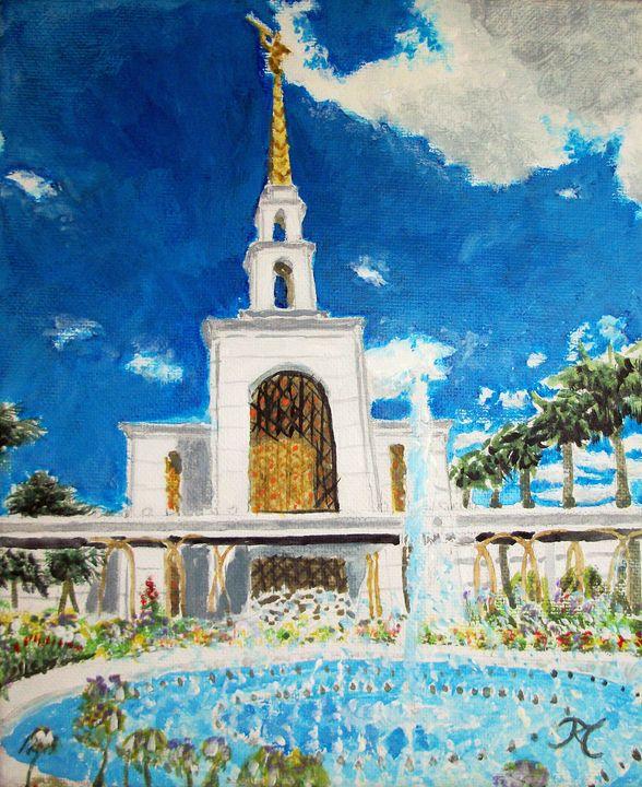 Sao Paulo Brazil LDS Temple - Bekablo Creations