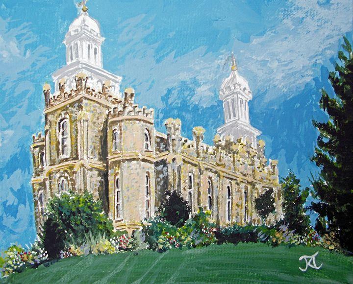 Logan Utah LDS Temple Painting - Bekablo Creations