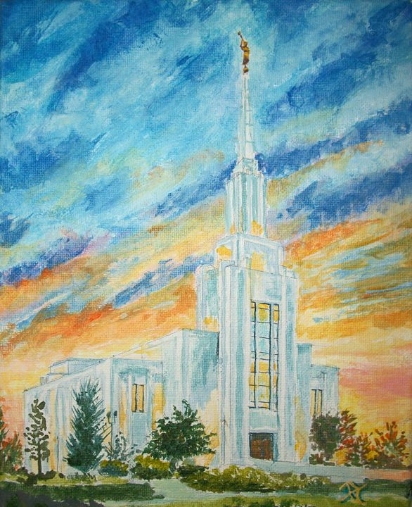 Twin Falls Idaho LDS Temple - Bekablo Creations