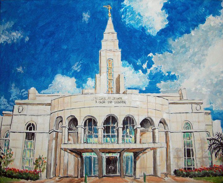 Recife Brazil LDS Temple - Bekablo Creations