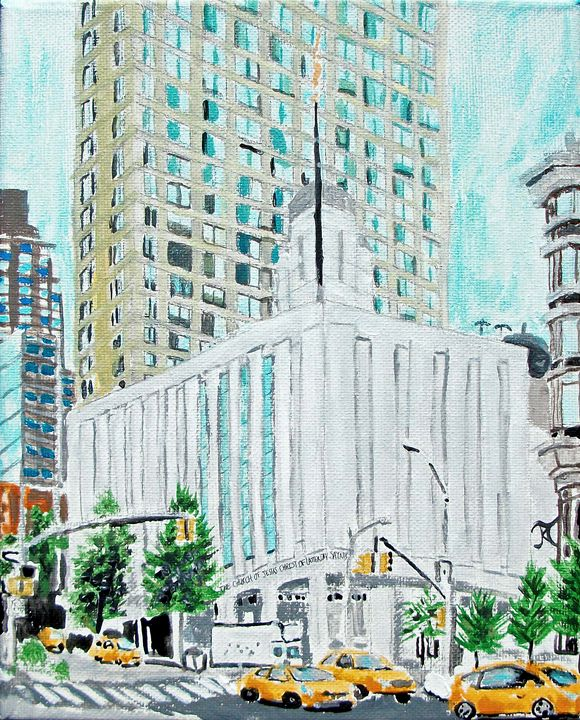 Manhattan New York Lds Temple Bekablo Creations Paintings