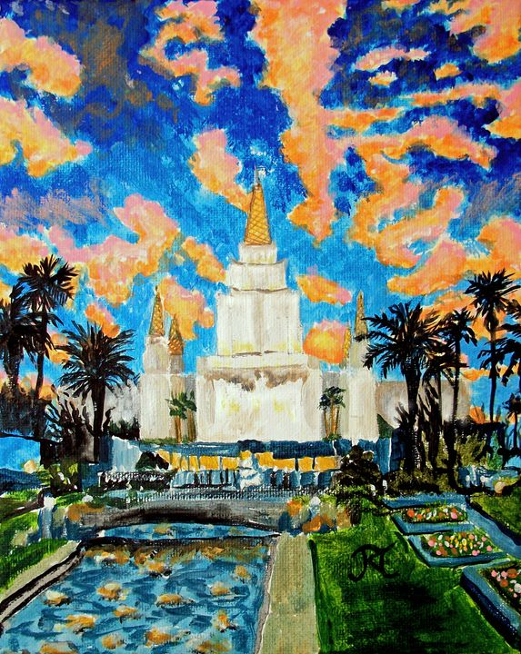 Oakland California LDS Temple - Bekablo Creations