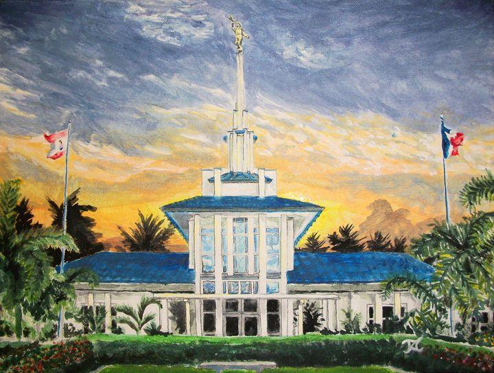 Papeete Tahiti LDS Temple - Bekablo Creations