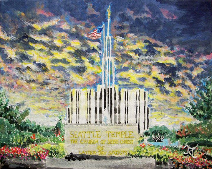 Seattle Washington LDS Temple - Bekablo Creations