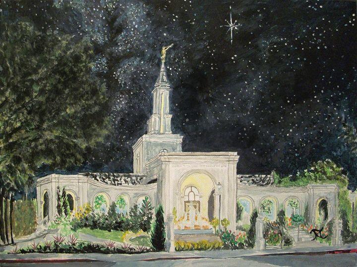 Sacramento California LDS Temple 2 - Bekablo Creations