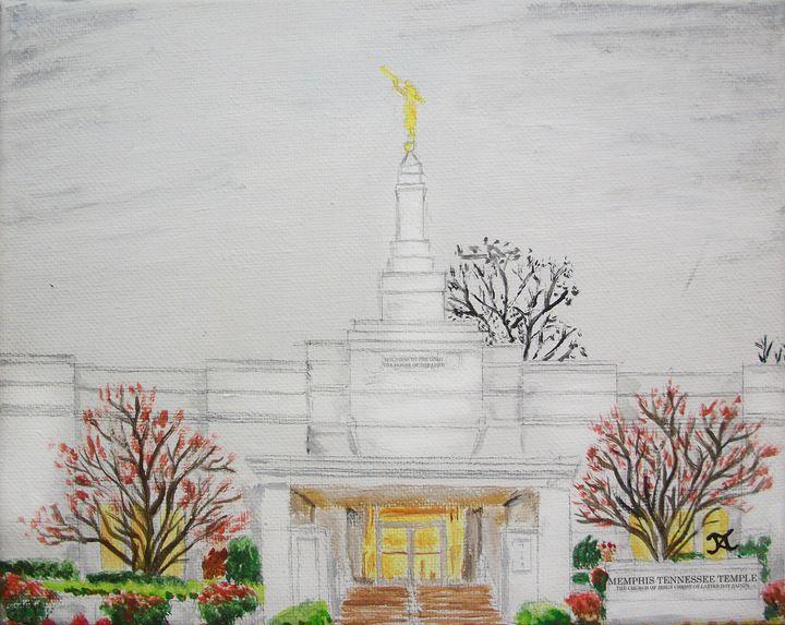 Memphis Tennessee LDS Temple Rain - Bekablo Creations