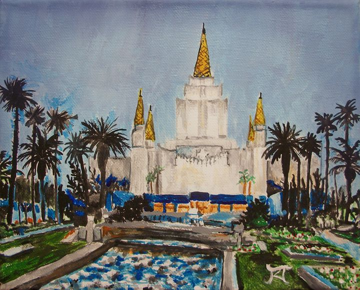 Oakland California LDS Temple Dusk - Bekablo Creations