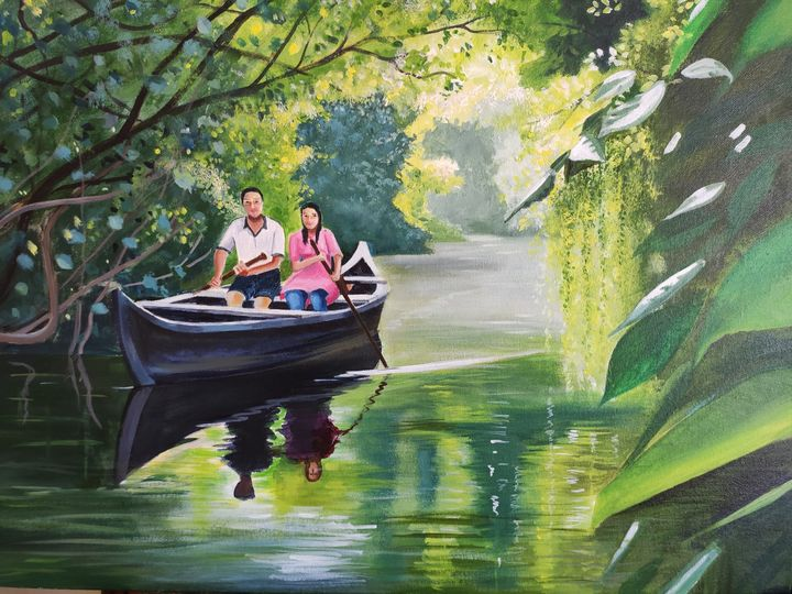 Kerala backwaters - Painting Destination