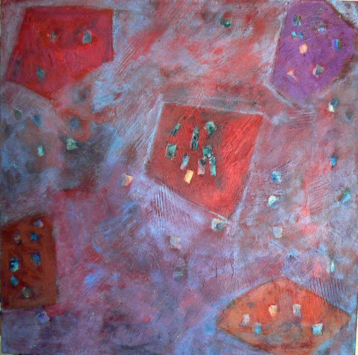 Light Dance Red - FREDA PONGETTI ORANGE COUNTY FINE ART