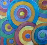 Beautiful colorful concentric circle