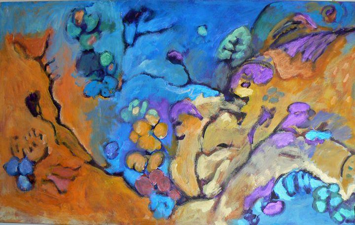 The Dream (left half of diptych) - FREDA PONGETTI ORANGE COUNTY FINE ART
