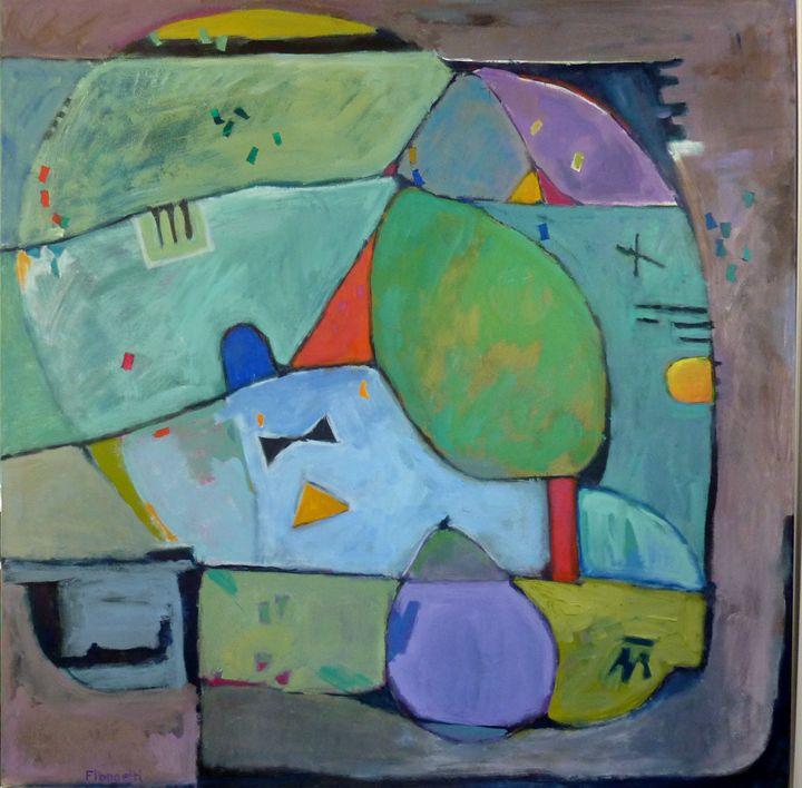 Composition with Pear and Tree - FREDA PONGETTI ORANGE COUNTY FINE ART