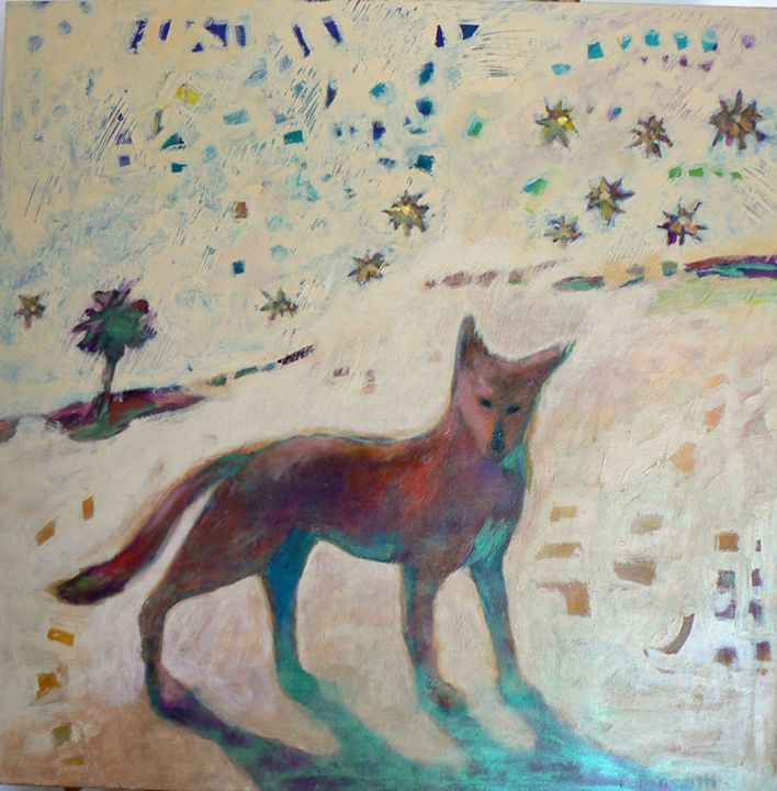 Desert Mesa Dog - FREDA PONGETTI ORANGE COUNTY FINE ART